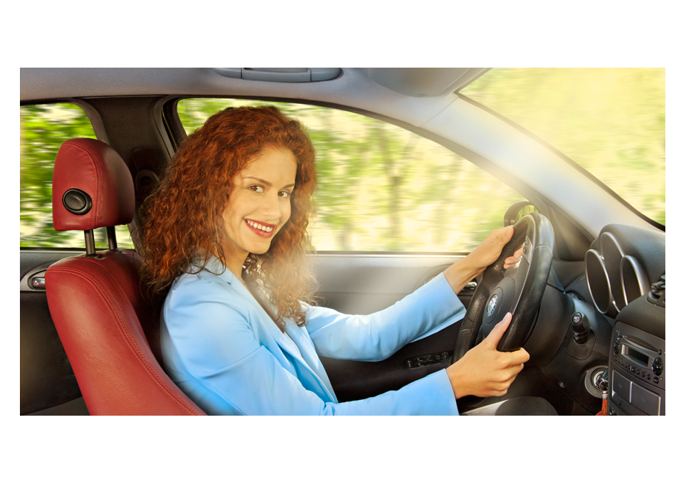 Alan Matuka advertising girl driving automotive photography car