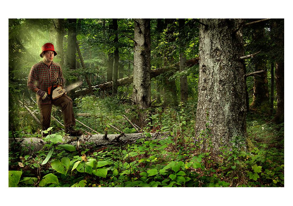 Alan Matuka portrait composite photography portret