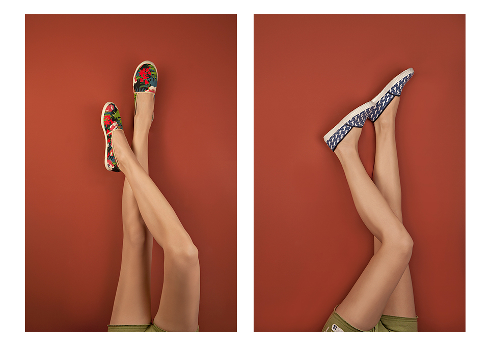 Alan Matuka Borovo Espadrile legs advertising woman girl