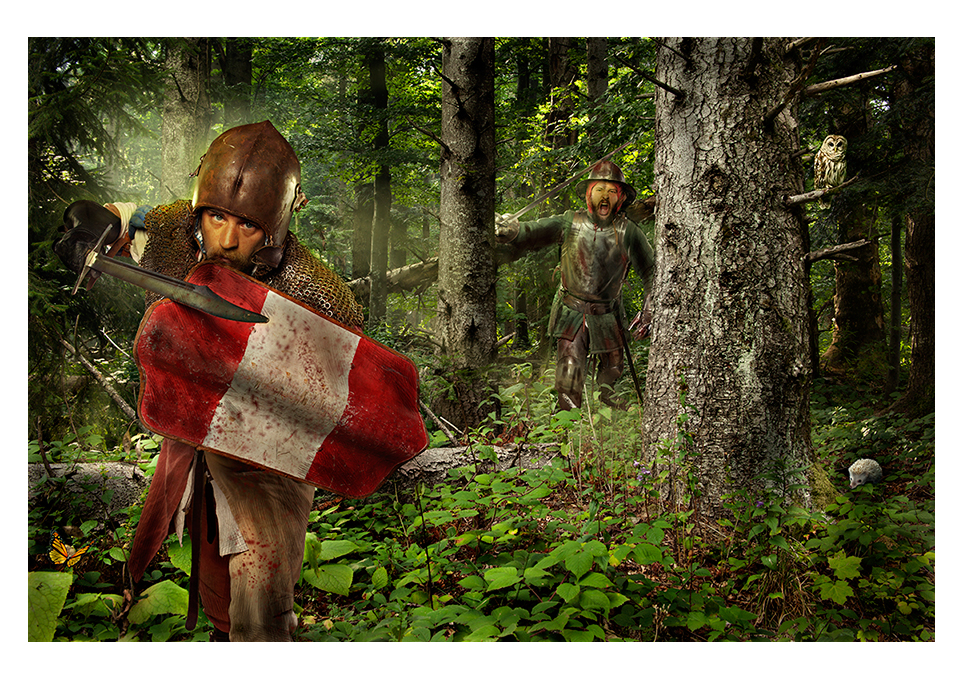 Alan Matuka portrait advertising knight landscape warrior